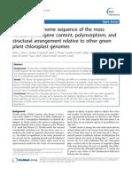 Tortula Ruralis Chloroplast Genome - BMCGenomics 2010
