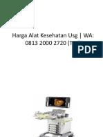 Alat USG Praktis | BERGARANSI +62 813 2000 2720 (WA Only)