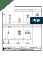 Schedule of Doors & Windows - Stilts
