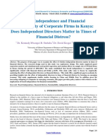 Board Independence and Financial Sustainability of Corporate Firms in Kenya