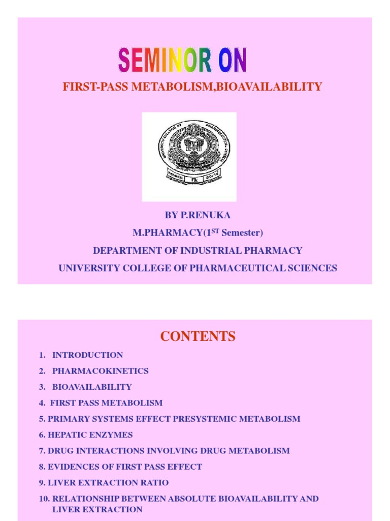 Bioavailability And First Pass Metabolism Bioavailability Earth Life Sciences