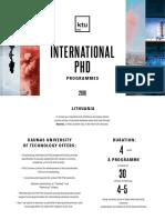 KTU PhD Studies 2018