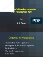 Design of Oil Water Separator - API 420