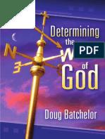 Determinig the Will of God