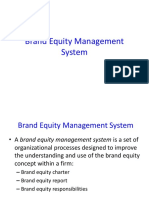 Brand Equity Management System