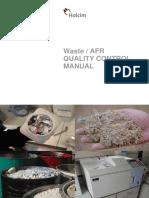 AFR Quality Control Manual