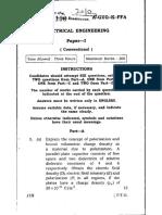 UPSC IES 2010 Electrical Engg Paper 1 Descriptive (Conventional) Type Question Paper