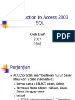 Intro SQL Access