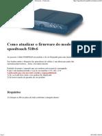 Upgrade Firmware - Atualizar Firmware - Como Atualizar_fazer Upgrade Do Firmware Do SpeedTouch