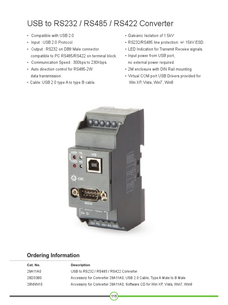 Get Usb To Rs232 Converter Rs485 Interface Converters Manufacturers Gic India
