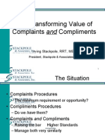Value of Complaints and Complements