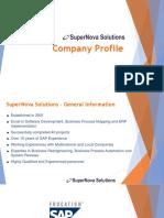 SuperNova Solutions - Company Profile