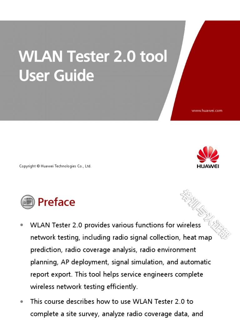 WLAN Tester 2 0 Tool User Guide | Decibel | Computer Network