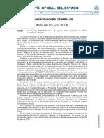 RD Expedición de Titulos Universitarios Oficiales