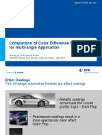 Comparison of Color Difference Methodes for Multi-An