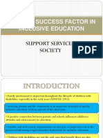 Society Support Inclusive Edu