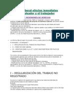 REFORMA LABORAL-efectos Inmediatos Para El Trabajador y El Empleador