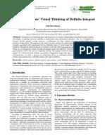 Visual Thinking of Definite Integral