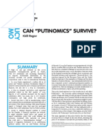 Can Putinomics Survive 3