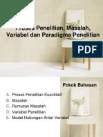 Proses Penelitian, Masalah, Variabel Dan Paradigma 6 (5)