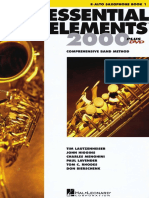 Essential Elements 2000 Metodo Saxofon Alto