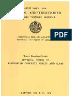 Optimum design of rc slabs or shell