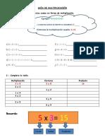 Guía de Multiplicación