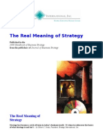 Real Meaning of Strategy