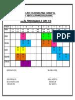 Jadual Bilik Sains 2018