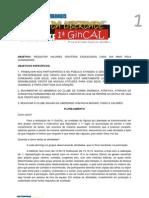 GINCAL - Boletim