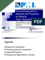 Herramientas para la dirección de Proyectos en Minería Caso Yanacocha