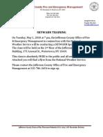 SKYWARN Training May 1, 2018