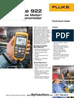 1. Air Velocity Fluke 922 Kit Air Tester Datasheet