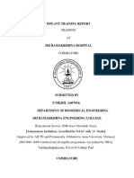 Inplant Training Reportfor Nikhil