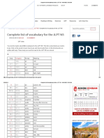 Complete List of Vocabulary for the JLPT N5