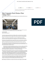 Companies Teach Workers What Colleges Don't - WSJ