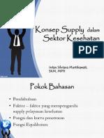 Konsep Supply Dalam Sektor Kesehatan