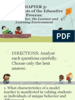 Chapter 3-Components of Educative Process