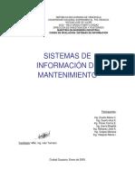 Sistema Informacion Mantenimiento
