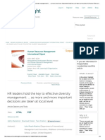 HR Leaders Hold the Key to Effective Diversity Management _ … as More and More Important Decisions Are Taken at Local Level _ Human Resource Management International Digest _ Vol 23, No 5