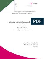 Aplicación multiplataforma para la gestión de archivos