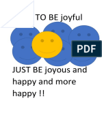 How to Be Joyful