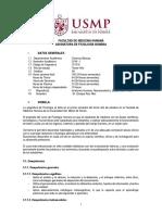 Sílabo Fisiología Humana 2018