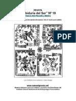 """REVISTA """"Sabiduría del Ser"""" Nº 19 Ciencia Arte Filosofía y Mística """"LOS CUATRO SEÑORES DE LA EXISTENCIA. CODICE BORGIA"""""""