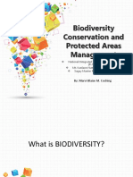 Biodiversity Conservation and Protected Areas Management