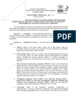 Dept Order No_ 150-16 Revised Guidelines-employment and Working Conditions of Sg