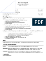 lee davenport resume 2018 no address