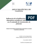 SANTIAGO - Influencia de La Liofilización a Presión Atmosférica Asistida Por Ultrasonidos en El c...