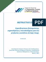 Instructivo-Externo-especificaciones-físico-químicas-organolépticas-y-microbiológicas-cosméticos-de-bajo-riesgo