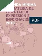 Agenda mínima en materia de libertad de expresión e información 2018